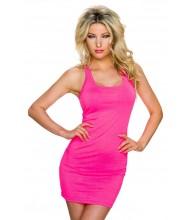 Elegantna fluorescentno roza oblekica Becky