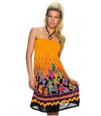 Poletna oranžna oblekica Cvetljica