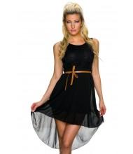 Elegantna črna oblekica Sheer