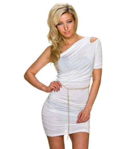 Poletna bela oblekica Agnes