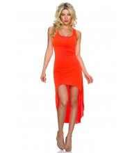 Poletna fluorescentno oranžna oblekica Attention